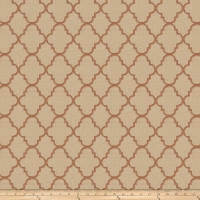 Fabricut Strahl Embroidered Faux Linen Spice