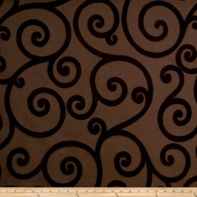 Jaclyn Smith 01845 Chenille Jacquad Scroll Pecan