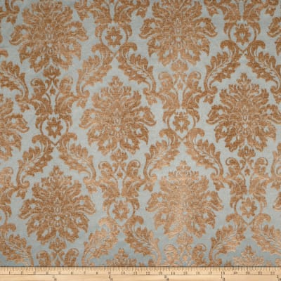 Jaclyn Smith 01850 Chenille Damask Peacock