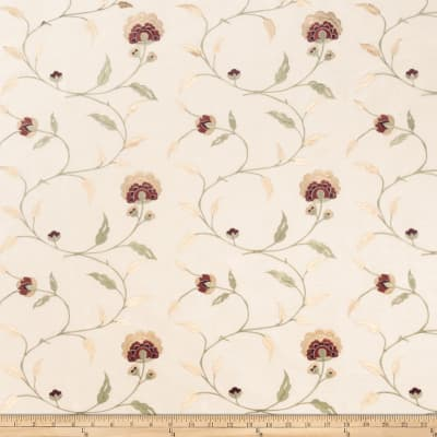 Trend 02242 Embroidered Taffeta Beige