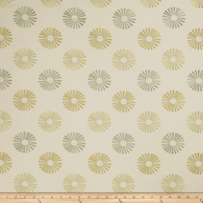 Jaclyn Smith 02619 Embroidered Linen Lemon Zest