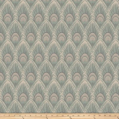 Vern Yip 03374 Jacquard Feathers Ocean