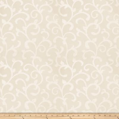 Trend 03481 Satin Jacquard Scroll Ivory