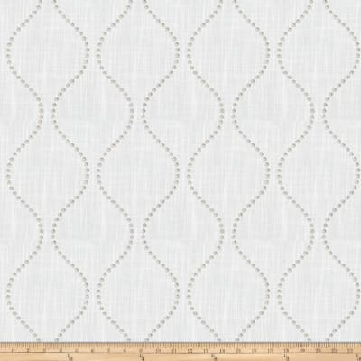 Trend 03654 Embroidered Faux Linen Ecru