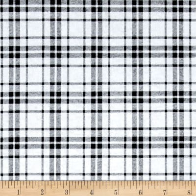 Fabric Merchants T-Shirt Jersey Knit Plaid Black/White