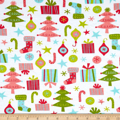 Fabric Merchants Cotton Jersey Knit Tossed Holiday Multi