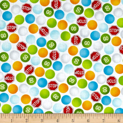 Be My Hero Stop And Go Dots White