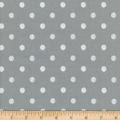 Cotton + Steel Rifle Paper Co. Wonderland Caterpillar Dots Grey