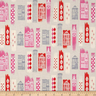 Cotton + Steel Jubilee In The City Pink