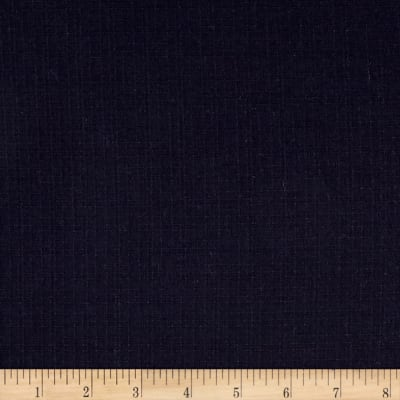 Kaufman Indikon 4.7 Oz Dot Cotton Chambray Plaid Indigo