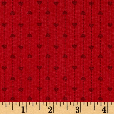 "Basically Wide 108"" Quilt Back Hearts Red"