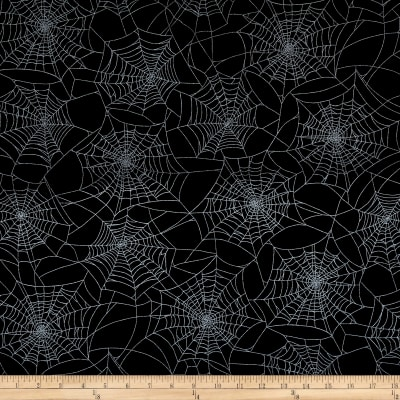 Fright Night Metallic Spider Web Black