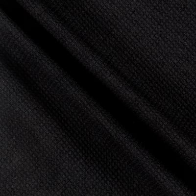 Stretch Heavy Diamond Embossed Double Knit Black