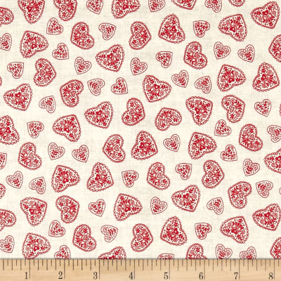 Scandi 4 Hearts Red