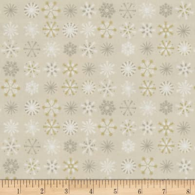 Traditional Metallic Christmas Snowflakes Cream