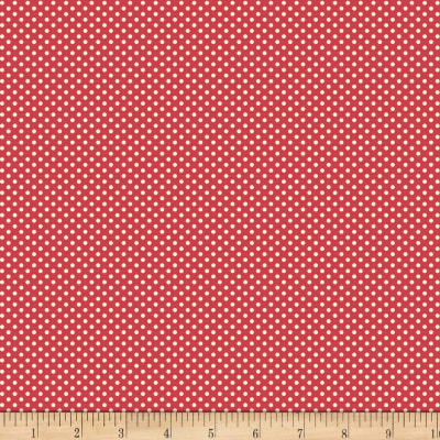 Back Porch Basics Dots Ivory/Red