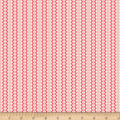 Back Porch Basics Rickrack Stripe Red