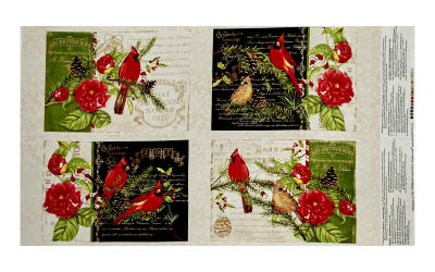 """Christmas in the Wildwood 25"""" Placemat Panel Multi"""
