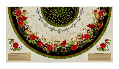 "Christmas in the Wildwood 29"" Tree Skirt Panel Multi"