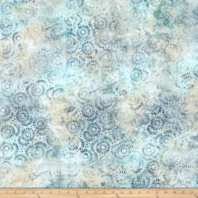 Wilmington Batiks Petal Burst Light Green/Blue