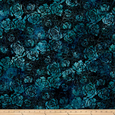 Wilmington Batiks Roses Navy