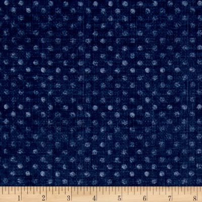 "Essential 108"" Backing Dotsy Navy"