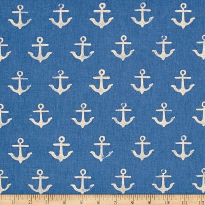 Cotton + Steel S.S. Bluebird Canvas Anchor Blue