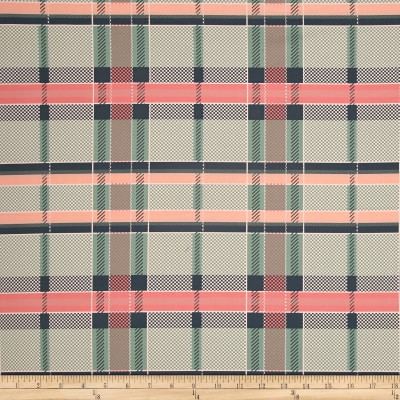 Art Gallery Mad Plaid Coral Views Plaid