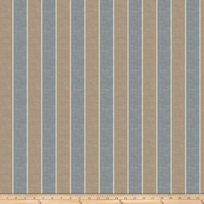 Fabricut Aft Stripe Slub Bluestone Canvas