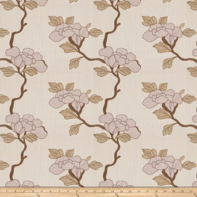 Mount Vernon Asian Floral Linen Blend Lavender