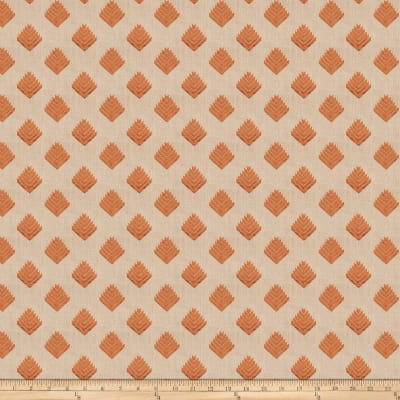 Fabricut Cool Arrow Linen Pumpkin