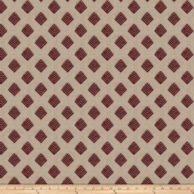 Fabricut Cool Arrow Linen Plum
