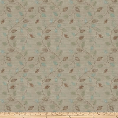Fabricut Coquet Embroidered Dupioni Malachite