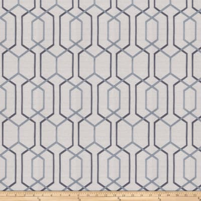 Fabricut Crosswise Embroidered Steel Blue