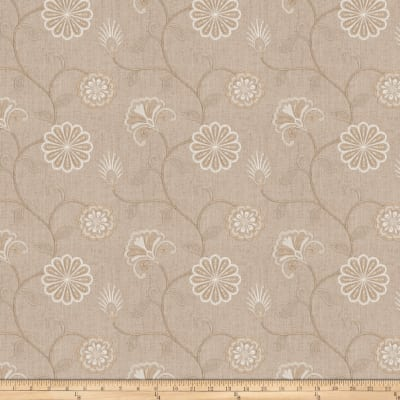 Fabricut Dory Floral Embroidered Linen