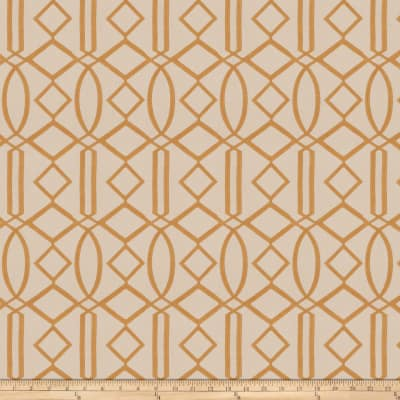 Isabelle De Borchgrave Egyptian Lattice Linen Blend Curry