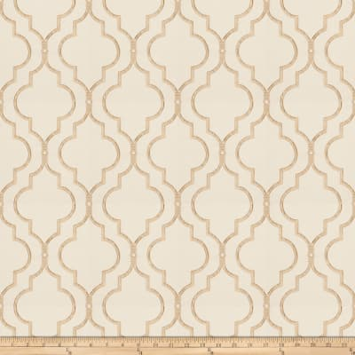 Fabricut Four Queens Embroidered Tan