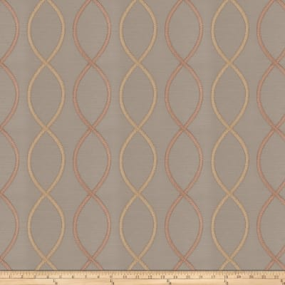 Fabricut Genial Embroidered Satin Blush