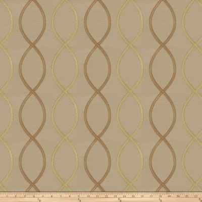 Fabricut Genial Embroidered Satin Linden