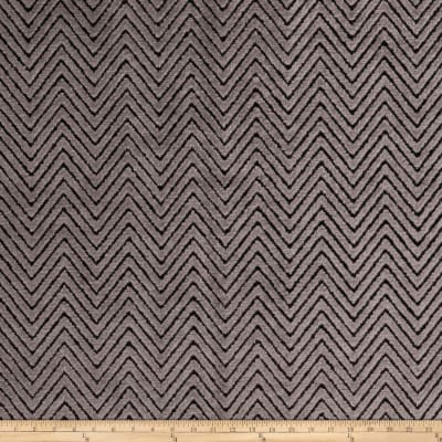 Fabricut High Low Zig Velvet Charcoal