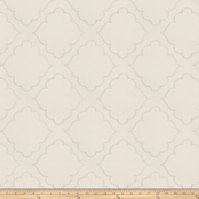 Fabricut Horus Medallion Embroidered Grey Canvas