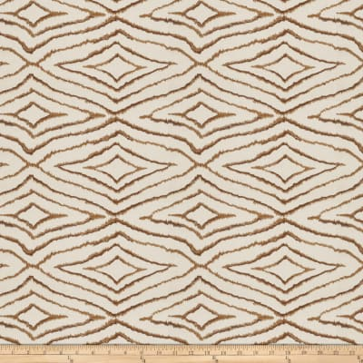 Fabricut Izara Embroidered Basketweave Latte