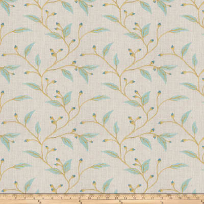 Fabricut Juma Embroidered Teal