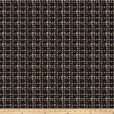Fabricut Mercat Barkcloth Black