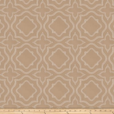 Fabricut Moondust Embroidered Almond Poplin