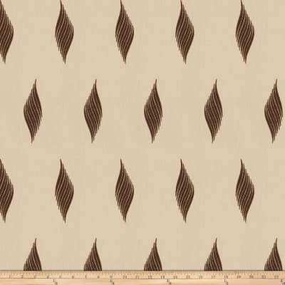 Fabricut Piye Embroidered Brown