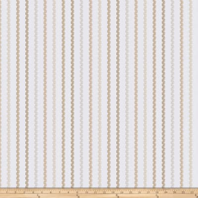 Fabricut Rook Stripe Embroidered Pearl