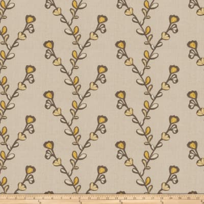 Fabricut Salana Embroidered Chenille Linen Golden