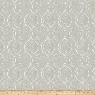 Fabricut Smashing Embroidered Metallic Linen Mist