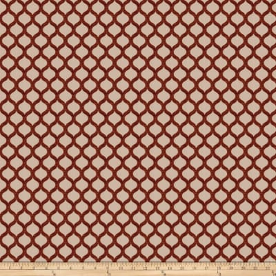 Fabricut Two Card Draw Velvet Jacquard Rust
